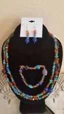 """Jay King 42"""" Multigemstone Necklace, Bracelet + Pierced Earrings $110 Ret NW/Tag"""