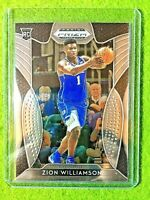 ZION WILLIAMSON ROOKIE CARD PANINI PRIZM RC DUKE JERSEY#1 PELICANS 2019 Prizm rc