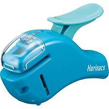 New Kokuyo Stapleless Stapler Harinacs Compact Alpha Blue SLN-MSH305B