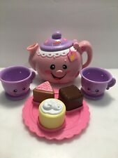 Fisher Price Laugh and Learn Teapot Pink Say Please Talking Musical WORKING Set