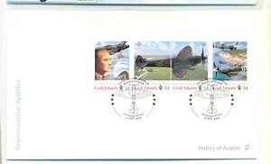 Cook Islands History of Aviation Supermarine Spitfire 2016 FDC