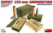 Soviética 122mm cáscaras con cajas de munición (Isu-122, A-19, D-25) 1/35 Miniart