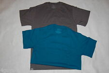 MENS Tee Shirt TWO LOT Charcoal Gray DARK TEAL S 34-36 FRUIT OF THE LOOM Pocket