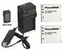 2 Batteries + Charger for Casio EX-ZS12BK EX-ZS12SR EX-ZS12RD EX-ZS12BE EX-ZS20