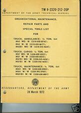 Truck, 3/4 Ton M37/M43 Series, Parts Manual