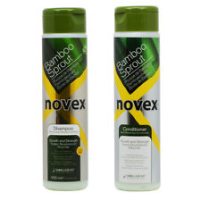 """Novex Bamboo Sprout Shampoo & Conditioner 300ml (10.1oz) """"Duo"""" w/Free Nail File"""