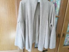 Ladies Loose Cardigan Size 20 With Angora In Cream
