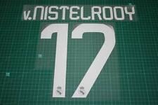 Real Madrid 08/09 #17 v.NISTELROOY Awaykit / 3rd Awaykit Nameset Printing