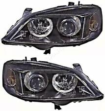 Opel Astra G 2000-2004 Electric Headlight Front Lamp Black PAIR LEFT RIGHT LH RH