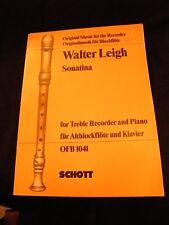 Partitur Sonatine Walter Leigh Treble Recorder Klavier Schott XXL] Öfb 1041