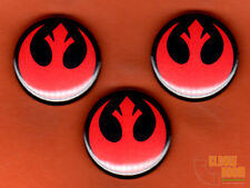 "Set of three 1"" Star Wars rebel symbol pins buttons Rogue One"
