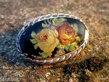 antike Trachtenschmuck Brosche Rosen 835er Silber K & L Kordes und Lichtenfels