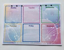 Filofax A5 Organiser Planner - Pretty Bright Weekly Bubble Paper set of 20 pages