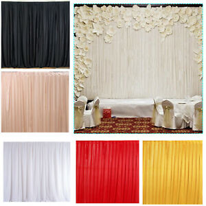 Silk Wedding Party Background Backdrop Curtains Without Swag Event Photo Studio
