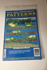 "Winfield Collection ""Lazy Frog Rail Pets"" Full Size Woodcraft Patterns #Rpet11"