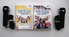 WE SING ENCORE AND WE SING UK HITS WII PAL