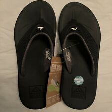 Reef Men's Beach Casual Sandals Flip Flops Size 8 - Rover Black 002295 nwt