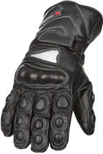 GearX Leather Motorcycle Gloves with Pre-Curved Fingers