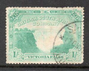 RHODESIA 1905 VICTORIA FALLS 1/- USED cat. £50