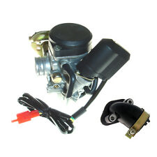 CARB PLUS INTAKE CHINESE LF50QT SCOOTER MOPED CARBURETOR HUNTER ICE BEAR VIP TAO