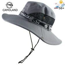 Bucket Hat Men's Mesh + UPF50 Wide Brim UV Summer Fishing Hiking Cap
