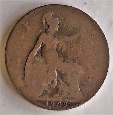 # C7940    GREAT BRITAIN   COIN,    HALF  PENNY    1909