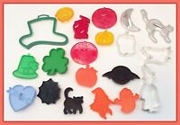 🔴 Vintage Metal & Plastic Holiday Theme Cookie Cutters Halloween St Patrick's