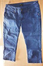 Pantaloni blu donna pinocchietto cotone eleganti Capri - corrispondente 40