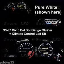 Gauge Cluster + Climate control led kit for Honda Civic del sol  93 94 95 96 97