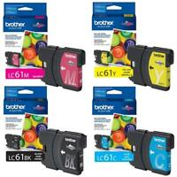 GENUINE Brother LC61 Ink Cartridge 4 Pack for MFC-290C MFC-490CW  MFC-5490CN