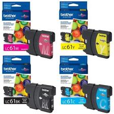 GENUINE NEW Brother LC61 Ink Cartridge 4 Pack
