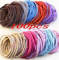 50/100 Pcs Elastic Rope Women Hair Ties Ponytail Holder Head Band Hairbands Lots