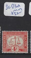 HONG KONG    (PP0110B)  POSTAGE DUE 4C  SG D3A  MOG