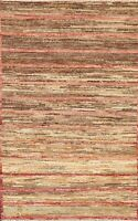 3x5 Striped Gabbeh Kashkoli Modern Oriental Area Rug Wool Hand-knotted Carpet