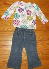 OLD NAVY 18/24 MTHS MULTI-COLOR L/S TOP-FADED GLORY 24 MTH GLITTER JEANS 8762-11