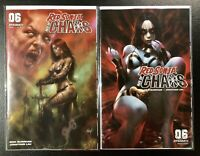 🔥🗡 RED SONJA AGE OF CHAOS #6 SET OF 2 Covers A Parrillo & Cover D Chew NM