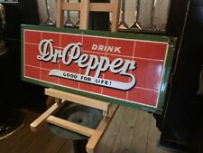 "26"" Dr Pepper Porcelain Advertising Sign   "" Watch Video"""