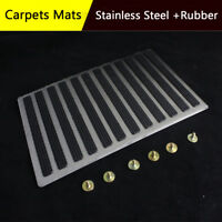 Floor Mat Carpet Pedal For Driving Side Stainless Steel +Rubber Foot Rest Pad