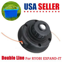 Double Line Trimmer Head Bump Feed Spool Head Cutting KIT For RYOBI EXPAND-IT mp