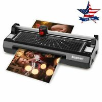 3 in 1 Laminator Machine Set with Paper Trimmer Cutter Corner Rounder Black Home