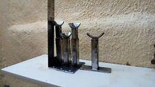 4 pieds pour radiateurs en fonte reglable, 13 a 17cms hauter
