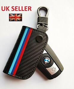 BMW LEATHER 1 3 5 SERIES X1 X3 X5 X6 E60 E90 E70 Z4 REMOTE KEY COVER CARBON A