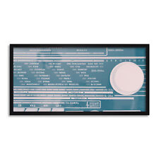 Old Radio Receiver Music Long Panel Framed Wall Art Print 12x25 Inch