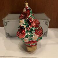 Polonaise Kurt S. Adler Komozja Four Calling Birds Christmas Glass Ornament