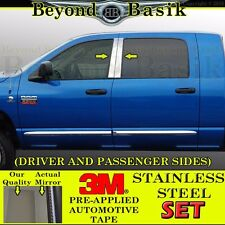 2003-2009 Dodge Ram 4DR Mega Cab 4pc STAINLESS STEEL Pillar Posts Trims Overlays