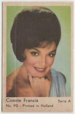 Connie Francis 1964 Dutch Gum TRADING CARD from Greece - Serie A #90 E2