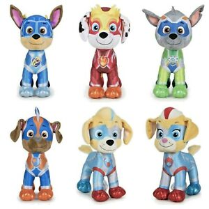 Official Paw Patrol Super Paws Mighty Pups Plush Soft Toys 27cm