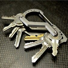 EDC Outdoor Multifunction Stainless Steel Key Clip Keys Ring Carabiner