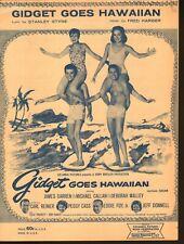 Gidget Goes Hawaiian 1961 James Darren Deborah Walley Sheet Music