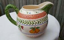 Strata Group Fresh n' Fruity Hand Painted Philippines Pitcher Beautiful